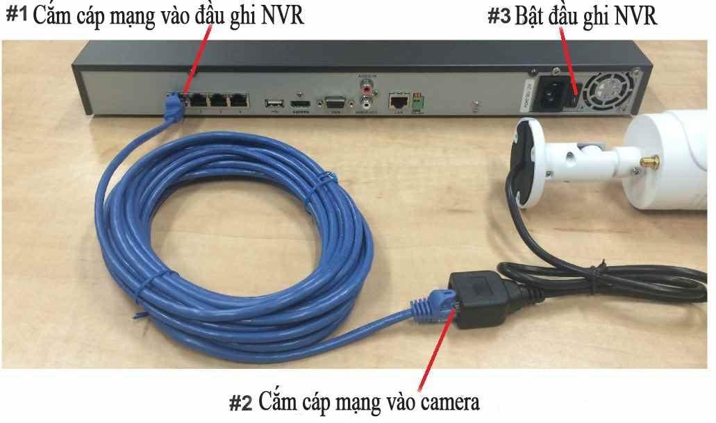Đi dây và nguồn cho hệ thống camera HD-CVI và hệ thống untra HD