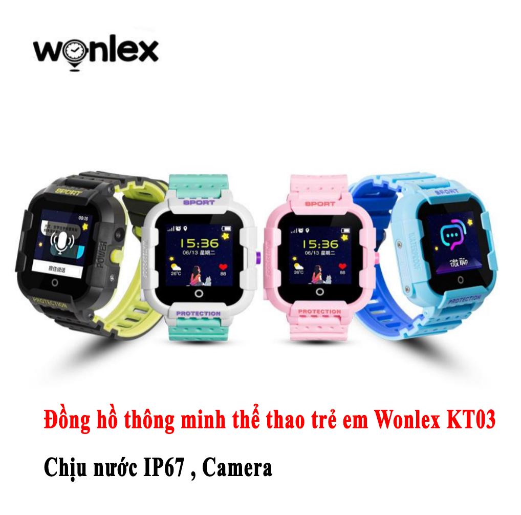 Đồng hồ thông minh Wonlex thể thao trẻ em KT03
